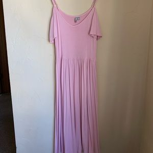 Pink maxi with adjustable straps